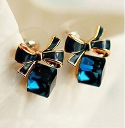 Bow Cubic Crystal Stud Earrings
